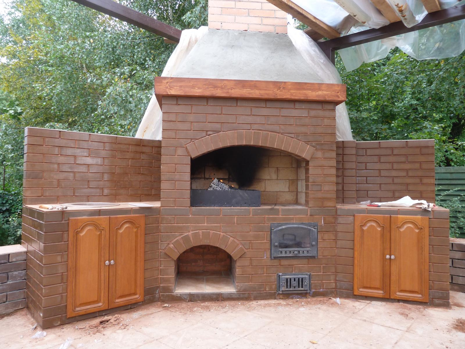 Печи барбекю для дома на дровах барбекю из декоративного бетона